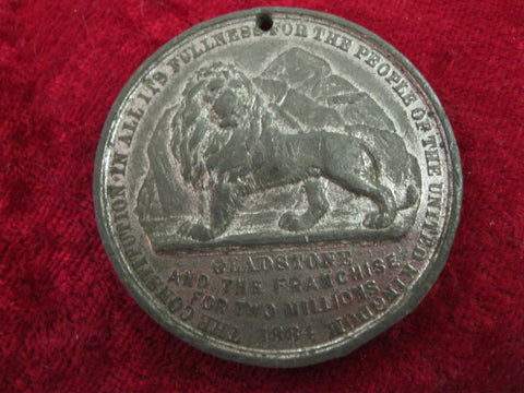 1884 - Gladstone Franchise Medallion