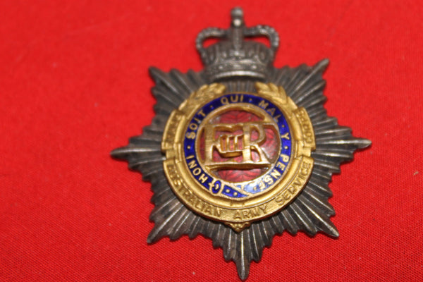 Australian Army Service Corps Officer's Cap Badge