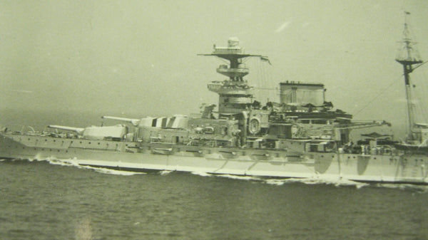 WW2 -Original Photo of British Battleship .