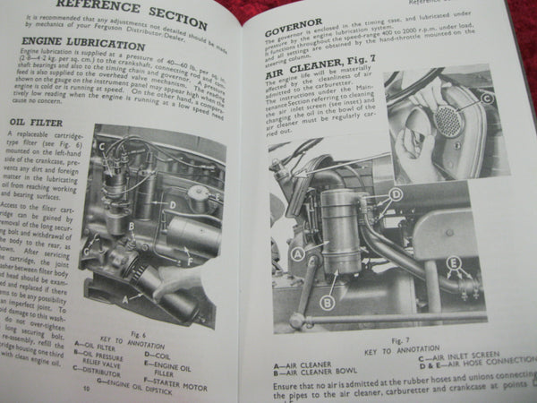 Ferguson Vaporising Oil Tractor Instruction Book