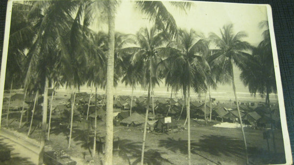 Original WW2 Military Camp Photo .