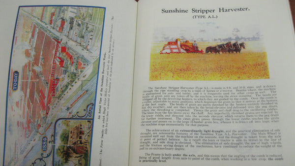 Reprint - Sunshine Massey Harris Catalogue .