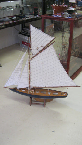 New - Gaff Rigged Wooden Yacht Model .