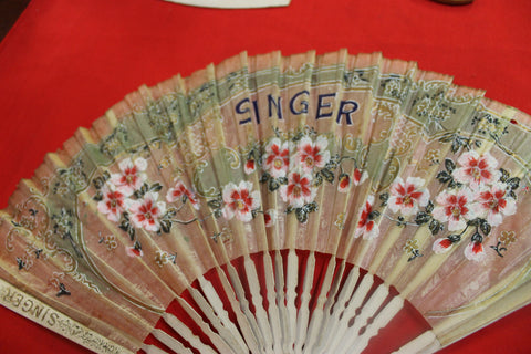 Singer Sewing Ladies Fan
