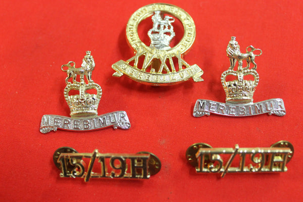 1st The Queen's Dragoon Guards Badge Set