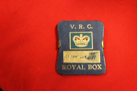 1954 Royal Visit Victoria Racing Club Royal Box Badge