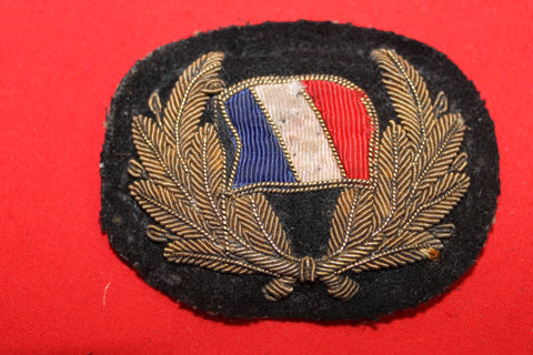 WW1 - French Naval Bullion Badge