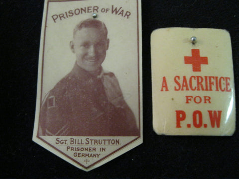 2 - Australian POW Celluliod Badges