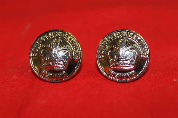 Pair of Tasmania Corrective Services Buttons