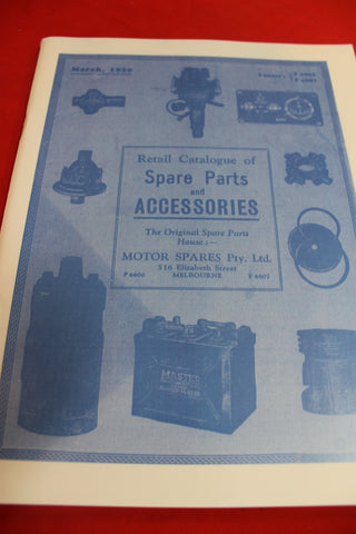 Automotive Spare Parts and Accessories Catalogue - 1929