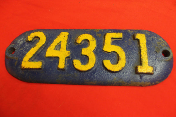 Locomotive Number Plate