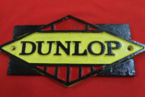 Dunlop Cast Iron Sign