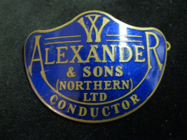 Alexander & Sons Bus Conductors Cap Badge