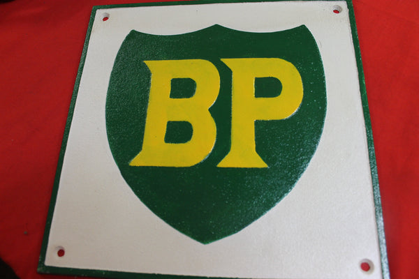 Cast iron BP Sign