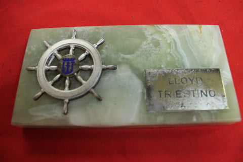 LLoyd Triestino Desk Plaque