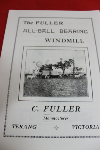 The Fuller All-Ball Bearing Windmill Pamphlet
