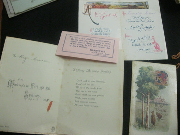 6 - 1920's Australian Greeting Cards