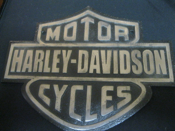 Cast Iron Harley - Davidson Sign
