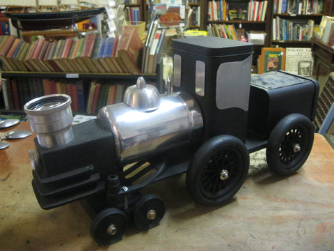 Recycled Item Train Art