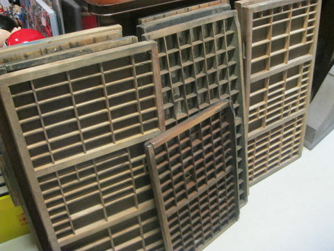 Vintage Printer's Type Drawers