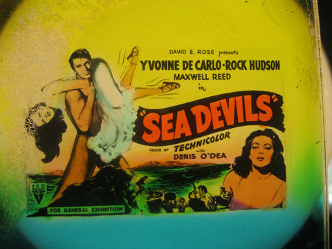 1953 - Sea Devils Glass Movie Slide