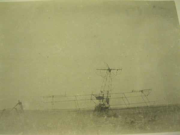 Original WW1 Plane Crash Photo Pair