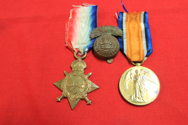 WW1 - 1914-15 Star & Victory Medal