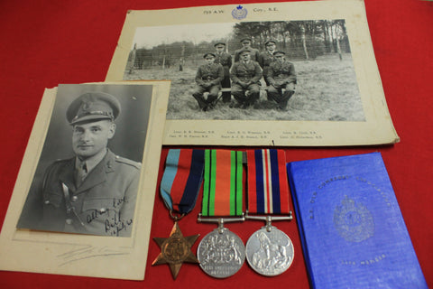 WW2 - Medals and Ephemera to Capt W H Ponton RE