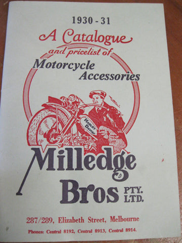 1930-31  Milledge Brothers Catalogue - Private Reprint