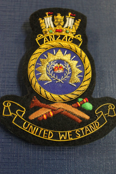 HMAS Anzac Bullion Badge