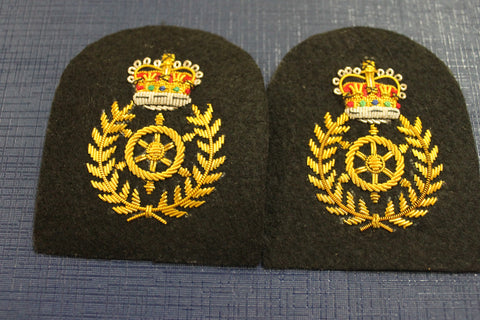 Chief Petty Officer Coxswain Collar Tab Pair