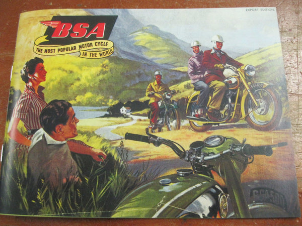 Private Reprint of the 1956 BSA Catalogue .