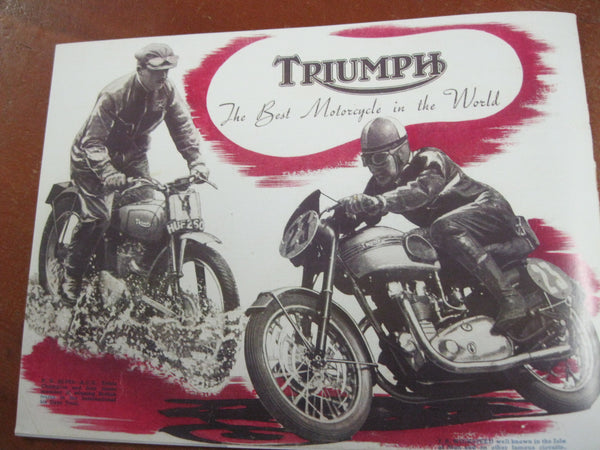 Private Reprint of the 1951 Triumph Catalogue.