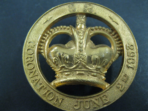 1953 - Coronation Gilt Badge.