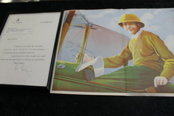 Amy Johnson Signed Letter