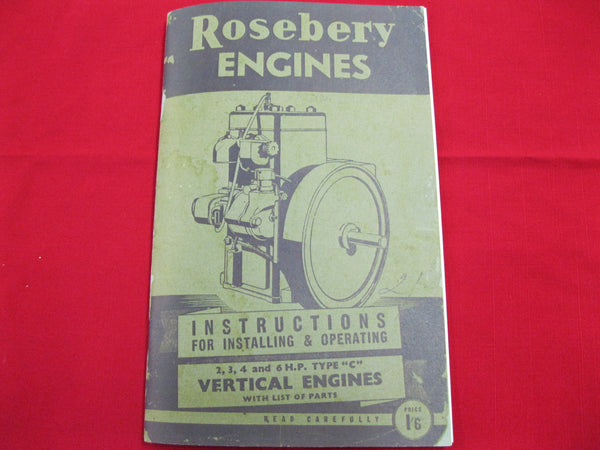 Rosebery Engines Instruction Book