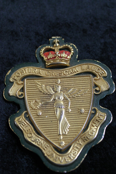 Melbourne University Regiment Plaque Badge