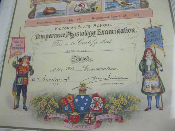 1951 - Temperance Physiology Examination Certificate.