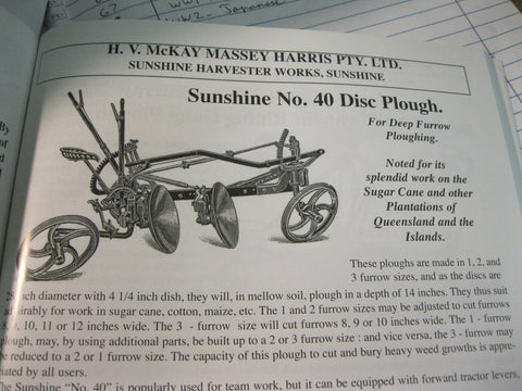 Sunshine Number 40 Disc Plough.