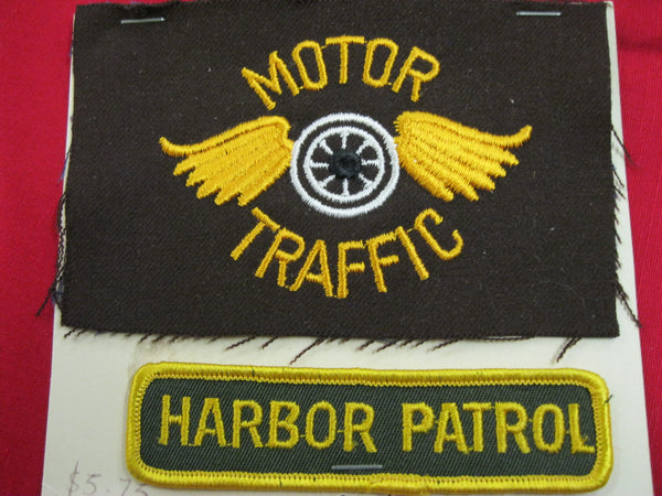 Motor Traffic and Harbor Patrol Patch Pair