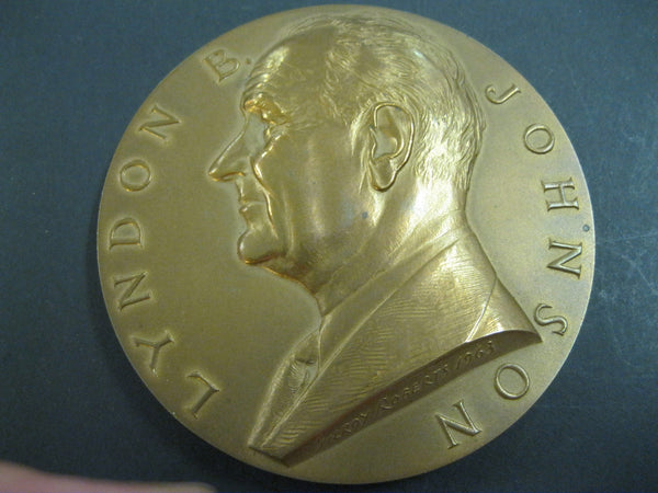 Large Bronze Lyndon Johnson Medallion.