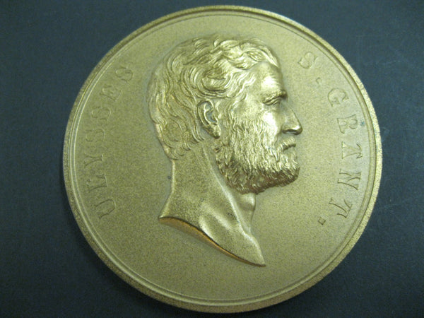 Ulysses Grant Large Bronze Medallion .