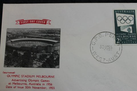 1955 - 2s Olympic Stadium FDC