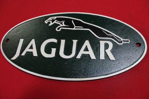 Cast Iron Jaguar Sign