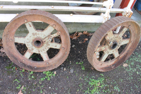 Pair - Scott Bonnar Mower Wheels