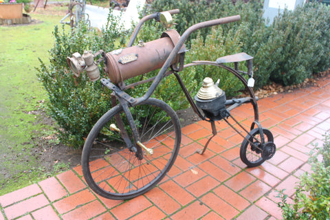 Steampunk Bike Garden Sculpture