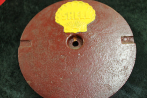 Shell Service Station Cast Iron Tank Cover
