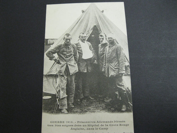 WW1 - Post Card of German POW's 1914