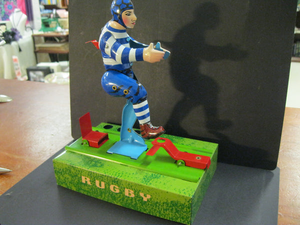 Tin Plate Rugby Player