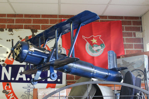 Recycled Art Biplane